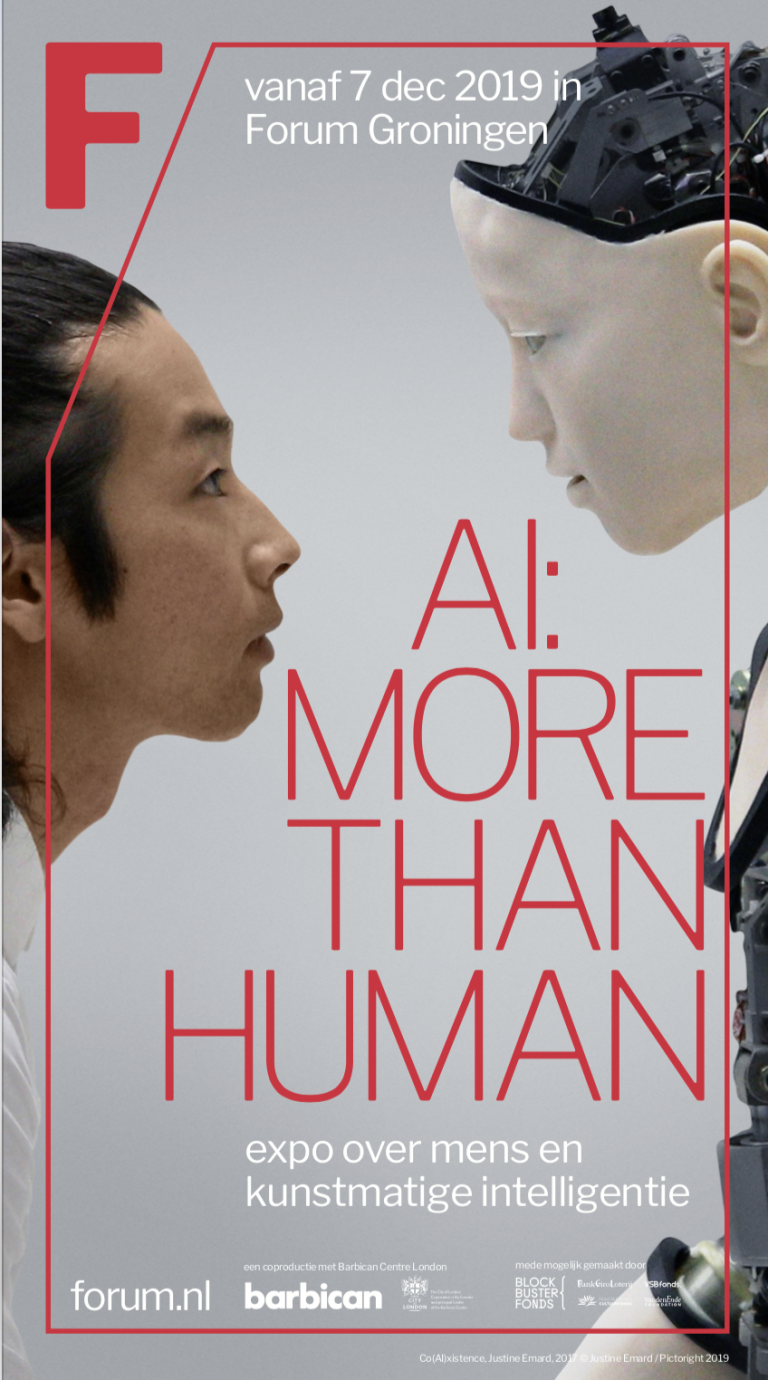 AI: MORE THAN HUMAN – Group Show Groningen Forum, Netherlands